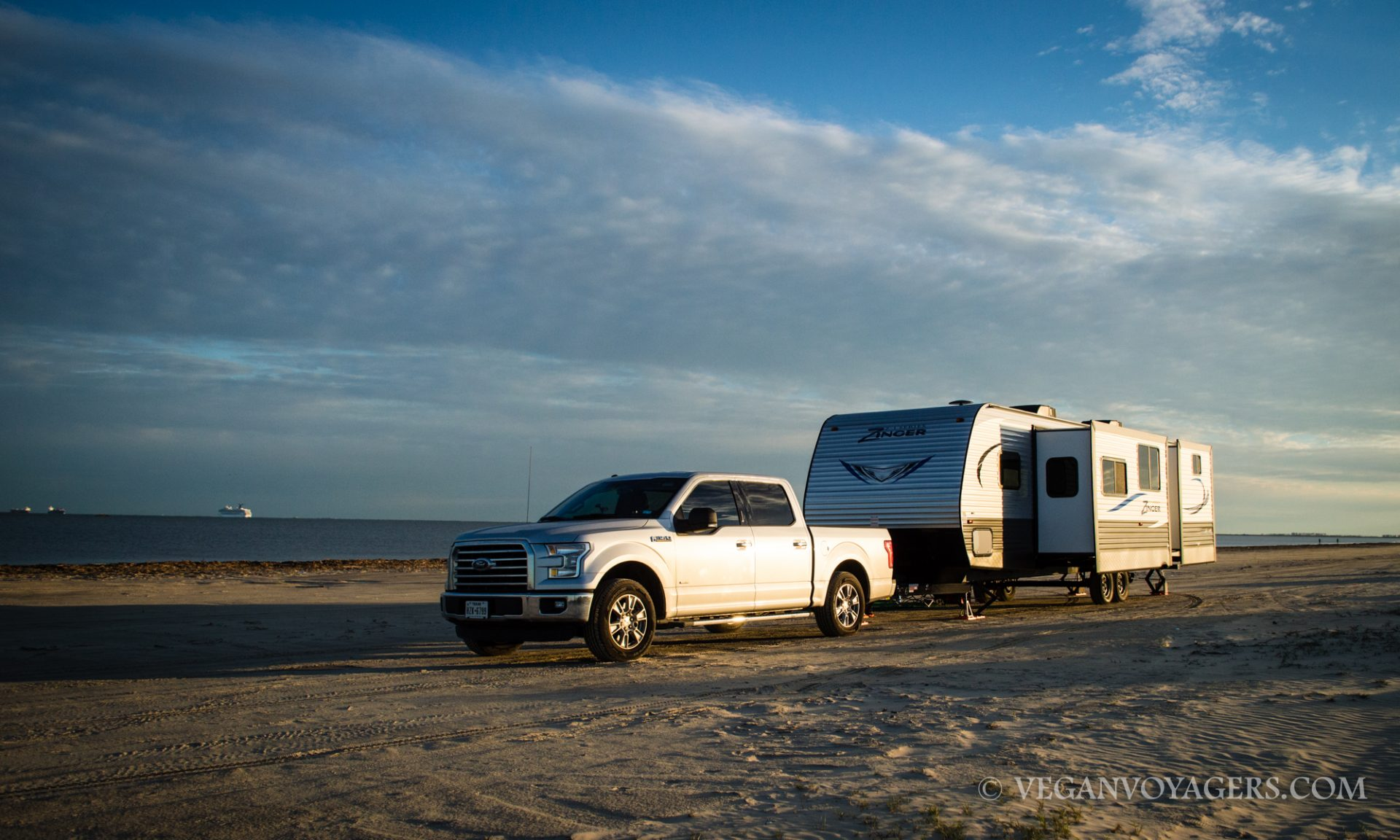 Our rig on the beach