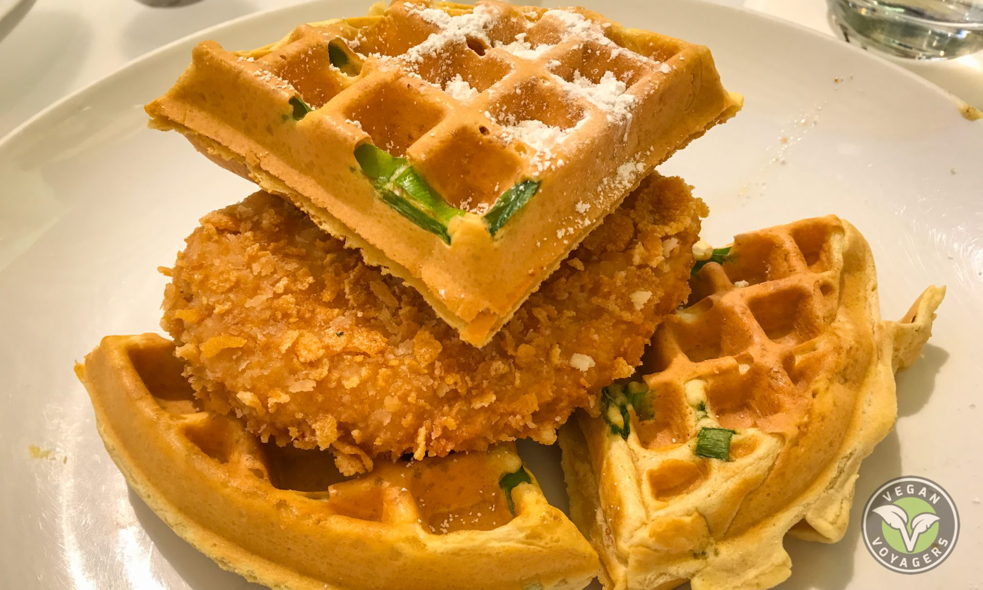 Vegan Chick'n and Waffles