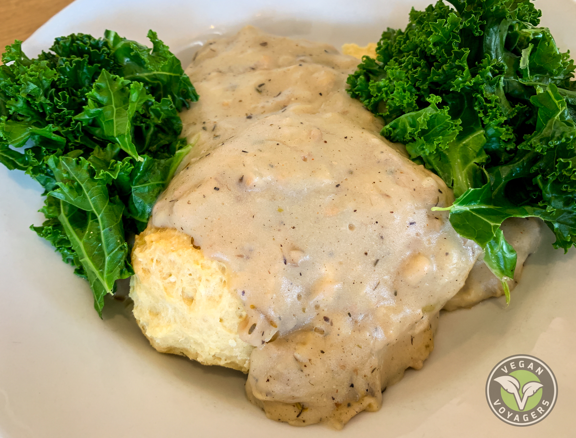 Vegan biscuits and gravy | Off The Griddle, Portland, OR