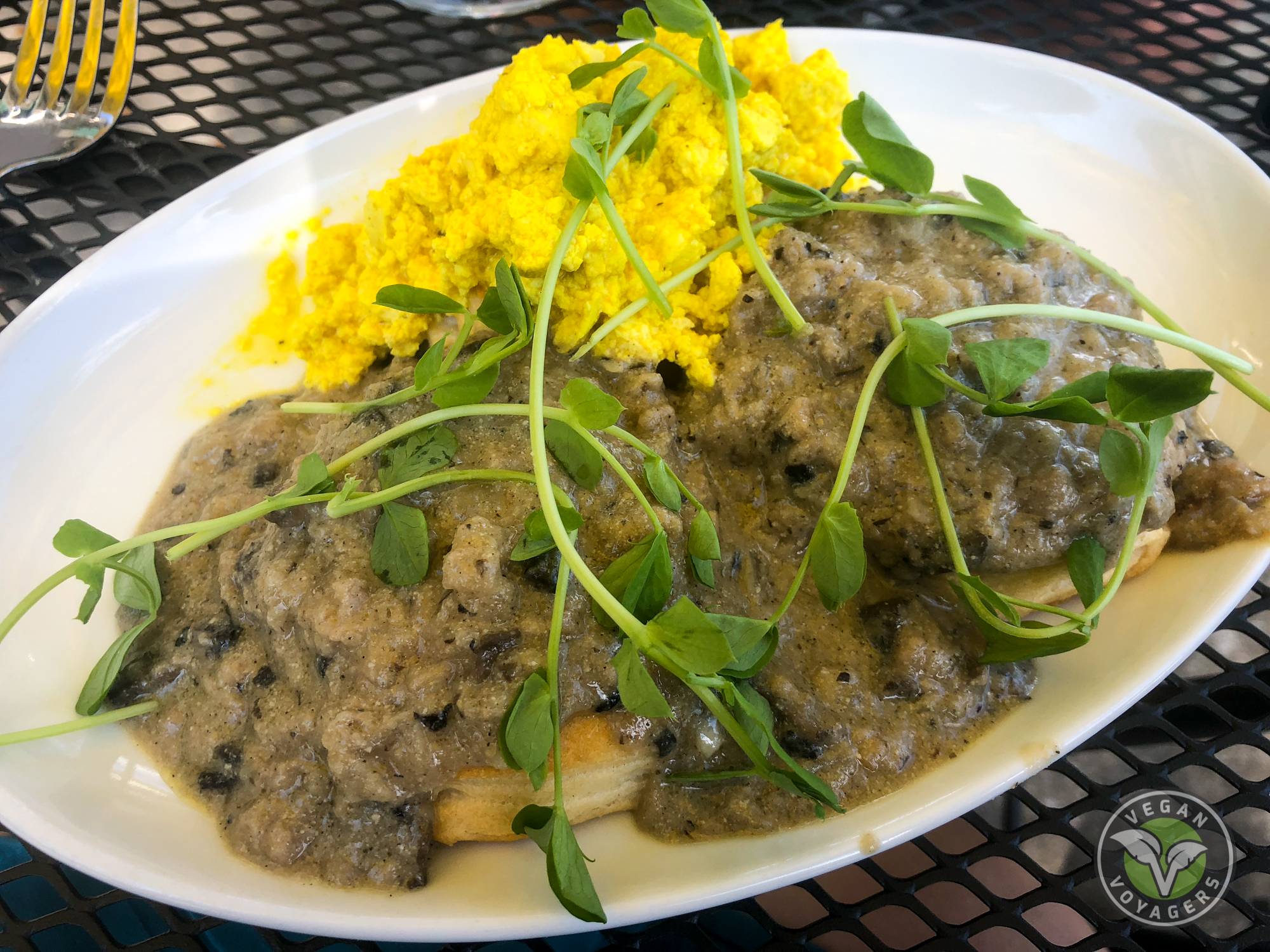 Vegan biscuits and gravy | Cider Press Cafe, St. Petersburg, FL