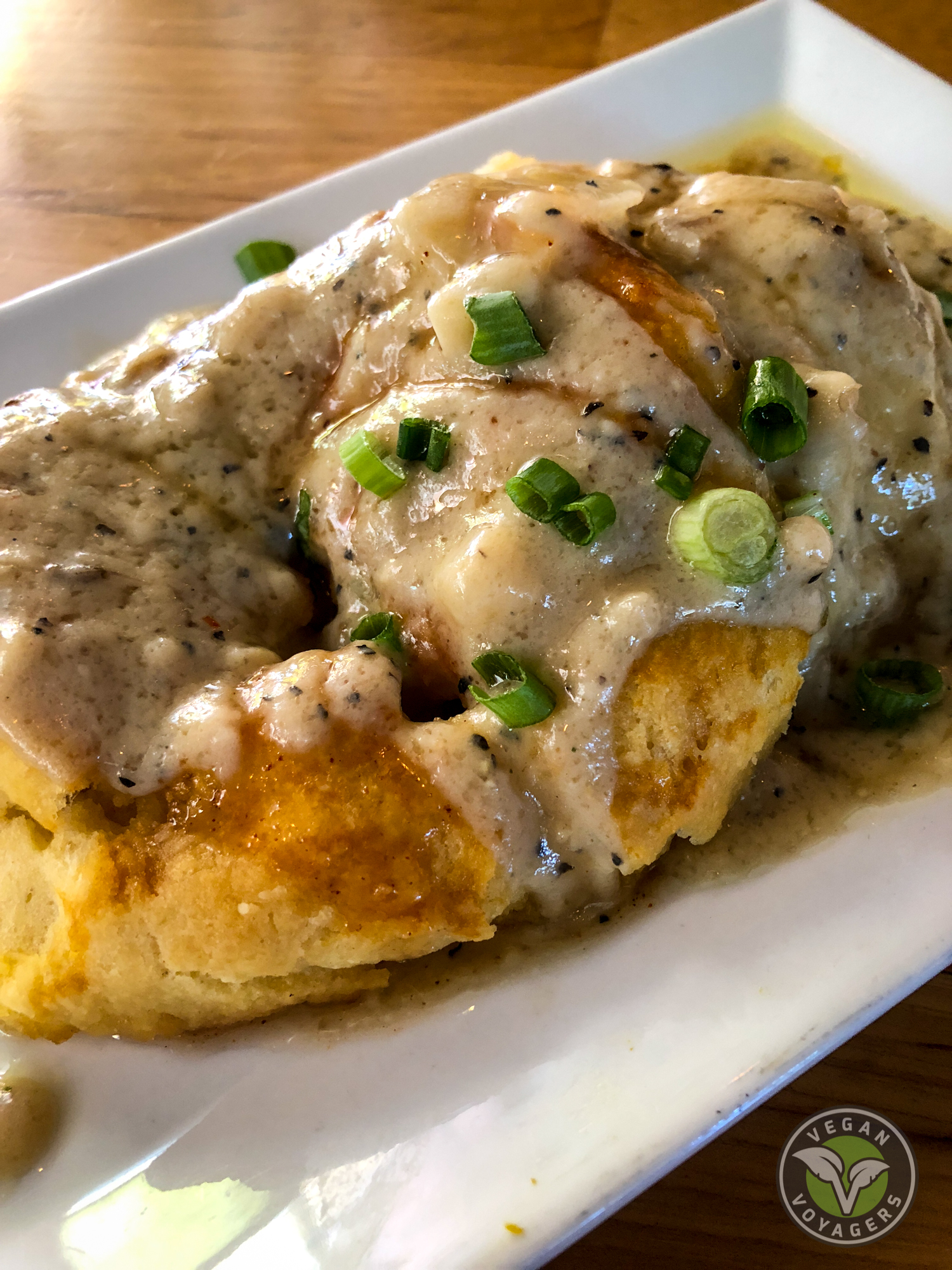 Vegan biscuits and gravy | Watercourse Foods, Denver, CO