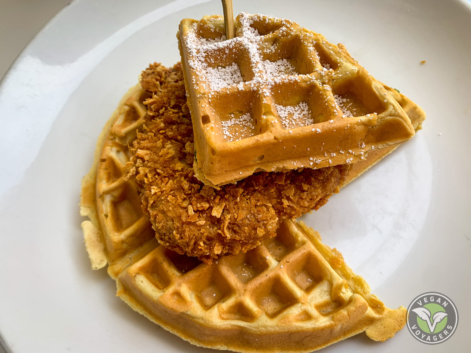The Ultimate Vegan Guide to Las Vegas, NV | Chicken and Waffles | Terrace Pointe Cafe